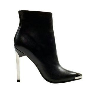 Zara metal cap toe ankle booties